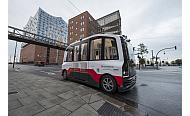 Erster fahrerloser Bus in der Hafencity